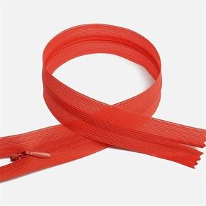 Молния MaxZipper пласт. потайная №3 50см н/р цв.F159 красный упак.10 шт