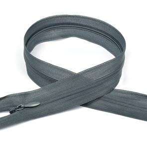 Молния MaxZipper пласт. потайная №3 50см н/р цв.F321 т.серый упак.10 шт