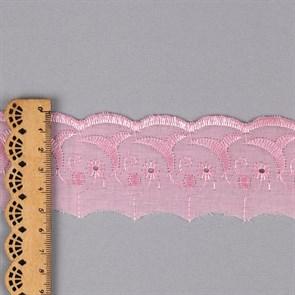 Кружево шитье арт.ТСВ-20S1 (2194) шир.5см цв.133 розовый 100% п/э, уп.13,71м