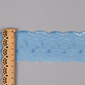 Кружево шитье арт.ТСВ-20S1 (2194) шир.5см цв.182 голубой 100% п/э, уп.13,71м
