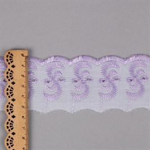 Кружево шитье арт.ТСВ-20S3 (2195) шир.5см цв.164 бл.сиреневый 100% п/э, уп.13,71м