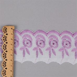 Кружево шитье арт.ТСВ-20S4 (2193) шир.5см цв.164 бл.сиреневый 100% п/э, уп.13,71м