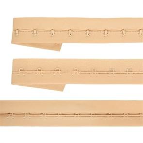Крючки на ленте 1 ряда на мягкой основе шир.28мм TBY-82659 цв.бежевый уп. 3м