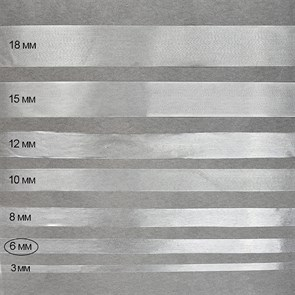 Лента (резинка) TBY силиконовая матовая 38003 шир.6мм толщ. 0,24мм уп.25м