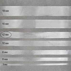 Лента (резинка) TBY силиконовая матовая 38004 шир.12мм толщ. 0,3мм уп.25м