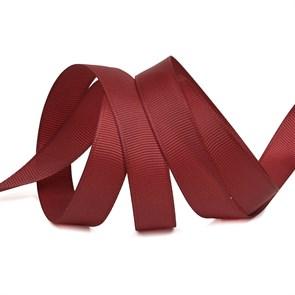 Лента Ideal репсовая в рубчик шир.15мм цв. 260 бордовый уп.27,42м