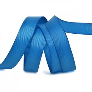 Лента Ideal репсовая в рубчик шир.15мм цв. 366 ярк.синий уп.27,42м