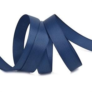 Лента Ideal репсовая в рубчик шир.15мм цв. 370 т.синий уп.27,42м