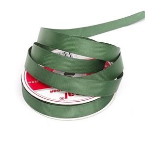 Лента Ideal репсовая в рубчик шир.15мм цв. 587 т.зеленый уп.27,42м