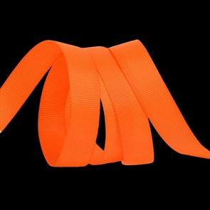 Лента Ideal репсовая в рубчик шир.15мм цв. 668 оранжевый уп.27,42м