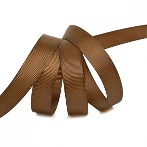 Лента Ideal репсовая в рубчик шир.15мм цв. 840  коричневый уп.27,42м