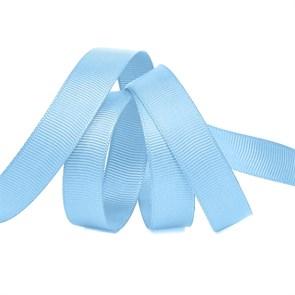 Лента Ideal репсовая в рубчик шир.15мм цв. S351 голубой уп.27,42м