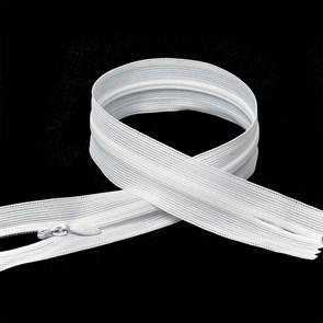 Молния MaxZipper пласт. потайная №3 70см н/р цв.F101 белый упак.10шт