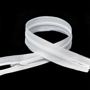 Молния MaxZipper пласт. потайная №3 80см н/р цв.F101 белый упак.10шт