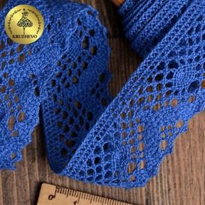Тесьма вязаная KRUZHEVO 30мм TBY-5234 цв.37 синий уп.10м