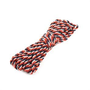 Шнур витой мебельный арт.SHDV302 5мм уп.10м белый/т.синий/красный