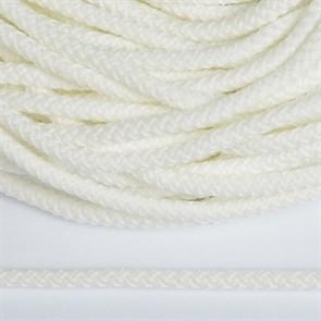 Шнур круглый полиэфир 05мм арт.1с-50/35 с наполнителем цв.301 белый уп.200м