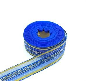 Подарочная лента арт. Р 8255 шир. 25мм цв. синий/золото уп.25м