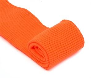 Подвяз 8х70 см 100% ПАН арт.ПРЦ-32/2 рапорт 2х2 плетение ластик цв. 510/1 апельсин 2шт