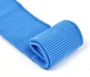 Подвяз 8х70 см 100% ПАН арт.ПРЦ-32/2 рапорт 2х2 плетение ластик цв. 520/7 синий дождь 2шт