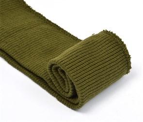 Подвяз 8х70 см 100% ПАН арт.ПРЦ-32/2 рапорт 2х2 плетение ластик цв. 532/3 болотный 2шт