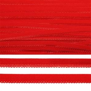 Резинка TBY бельевая (ажурная) 10мм арт.FB03163SD цв.SD163 красный уп.10м