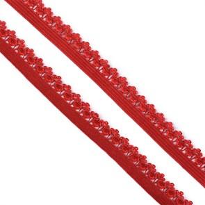 Резинка TBY бельевая (ажурная) 12мм арт.FB01059S цв.S059 темно-красный уп.10м
