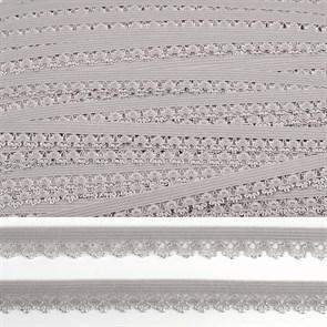 Резинка TBY бельевая (ажурная) 12мм арт.FB01154S цв.S154  серый уп.10м