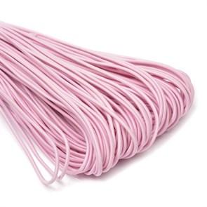 Резинка TBY шляпная (шнур круглый) цв.F134 розовый 3,0мм рул.100м