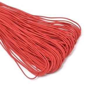 Резинка TBY шляпная (шнур круглый) цв.F148 красный 2мм рул.100м