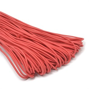 Резинка TBY шляпная (шнур круглый) цв.F148 красный 3,0мм рул.100м