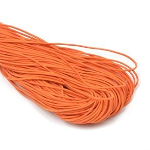Резинка TBY шляпная (шнур круглый) цв.F157 оранжевый 2мм рул.100м