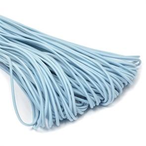 Резинка TBY шляпная (шнур круглый) цв.F184 голубой 3,0мм рул.100м