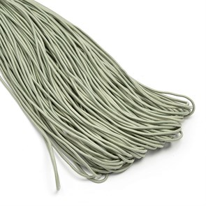 Резинка TBY шляпная (шнур круглый) цв.F317 серый 2мм рул.100м