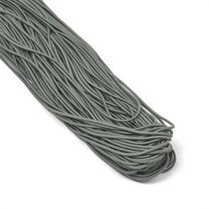 Резинка TBY шляпная (шнур круглый) цв.F321 т.серый 2мм рул.100м