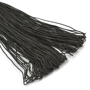 Резинка TBY шляпная (шнур круглый) цв.F322 (310) черный 1,0мм рул.100м