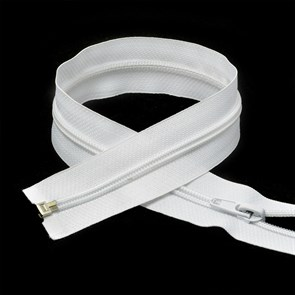 Молния MaxZipper пласт. спираль №5-N 65см цв.F101 белый упак.10шт